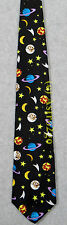 MOON PLANETS COMETS SATURN SHOOTING STARS SPACE ASTRONOMY SCIENCE Silk Necktie