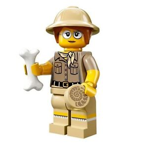 LEGO Minifigures Series 13 Paleontologist with fossil hat and bone