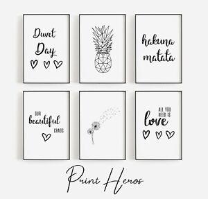 Living Room Prints Home Modern Stylish Wall Art Quotes Home Decor Gift