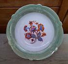 Antico piatto decorazione fogli e fiori in ceramica, francese antico