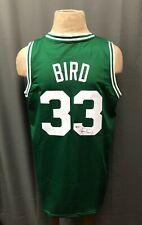 Larry Bird #33 Signed Celtics Jersey AUTO Sz XL Beckett BAS WITNESSED COA HOF