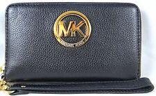 Michael Michael Kors Fulton Black Large Flat MultiFunction Phone Case, Wristlet