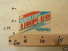 STICKER,DECAL VERONICA DE NEDERLANDSE TOP 40, A