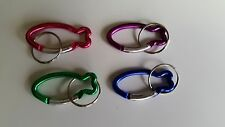"36 - Fish Shaped Carabiner Clip - 2"" - Key Chain Backpack Ring Chain Belt Hook"