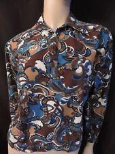 VINTAGE 70  CHEMISIER  corsage   polo  jersey /VTG BLOUSE T 40/42