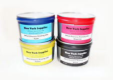 Set of CMYK Process Offset Printing Ink - 2.5 lbs each