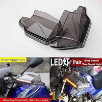 Motorcycle Smoke Hand Guards+LED Signal Light For Kawasaki Suzuki Honda Yamaha