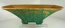 Roseville Pottery Futura Sailboat 196 12 Blue Green Console Bowl 1928 Art Deco