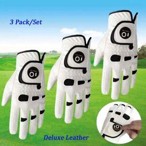 3 Stk Herren Golfhandschuhe Mit Ballmarker Linke Rechte Hand Allwetter Handschuh