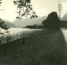 France Haute Savoie Lake Annecy old Possemiers Stereo Photo 1920