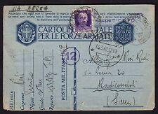 POSTA MILITARE 1942 Franchigia da PM 106 per Radicondoli(FM0)