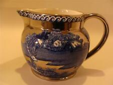 "Wedgwood & Barlaston of Etruria ""FALLOW DEER"" CREAMER Blue & Silver"