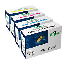 Set of 4 Non OEM Toner Cartridges For Dell 1350cnw 1355cn 1355cnw C1760 C1760nw