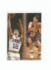 1995-96 FLEER DOUBLE TROUBLE JOHN STOCKTON UTAH JAZZ #12 NM-MINT!!!
