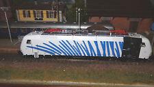 Roco 73682 EU43-008 RTC/Lokomotion livrea zebrata bianca fasce azzurre