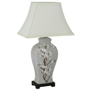 Hand Painted Cherry Blossom Ceramic Table Lamp