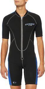 Cressi Herren Neopren Schwimmanzug Lido LV455002, schwarz/blau, Gr. S2
