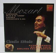 Claudio ABBADO: MOZART Symphony No 23 36 Linzer Sinfonia Concertante CD SONY BPO