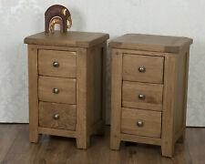 Solid Oak 3 Drawer Bedside Tables in Chunky Dorset Country FREE DELIVERY!!