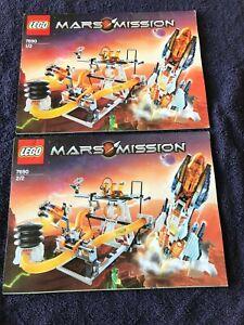 Lego Instruction Manuals, Lot of 5 - Mars Mission - no bricks or mini figures