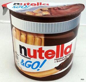 Nutella and Go 12 ct Box Hazelnut Chocolate w/ Breadsticks Ferrero Skim Milk