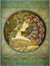 MUCHA LAUREL 1901 OLD MASTER ART PAINTING PRINT 12x16 inch POSTER REPRO 119OM