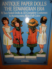 New Paper Dolls - Antique Paper Dolls The Edwardian Era 2 Sided Dolls/Costumes