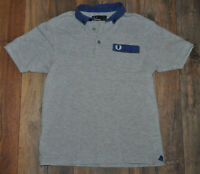 Fred Perry Boys Grey Polo Shirt Casual Top Collar Kids M / Medium 12 / 13 Yrs