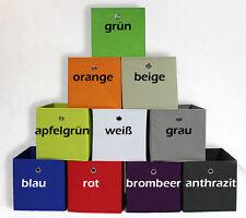 Aufbewahrungsbox DELTA Boxen Korb Einschubkorb Stoffbox Faltboxen 32x32x32cm