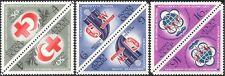 Russia 1973 Croce Rossa/medico/Teatro/Maschera/festival della gioventù 3 V T-B PRS (n44083)
