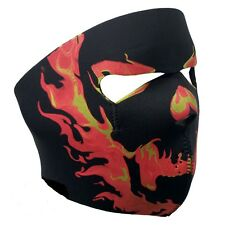 Biker Mask flaming skull  FULL FACE MASK