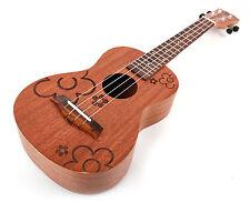 Bray 23 Inch Premium Natural Wood Flower Design 4 String Concert Ukulele