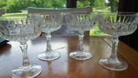 Champagne Glasses Coupes Tall Sherbets Heavy Diamax glass 4 8 ounce stems