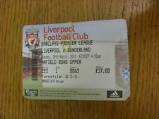 28/03/2010 Ticket: Liverpool v Sunderland  . Thanks for viewing this item, we tr