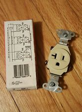 Pass & Seymour Single Receptacle 5351-I Ivory 20A 125V Commercial Grade