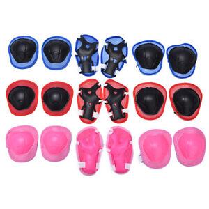 6pcs/set Children Skating bike Protective Gear Sets Knee Elbow padsB^BI