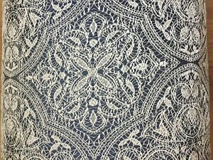 """Curtain Upholstery Jacquard £19.99 per M fabric 300cm/118"""" wide NAVY,F RENCH A++"""