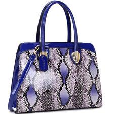 Dasein Women Handbags Faux Leather Satchels Tote Bags Shoulder Snakeskin Purse