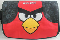 NEW ROVIO LICENSED LARGE FACE ANGRY BIRDS RED MESSENGER BAG SCHOOL SHOULDER TOTE