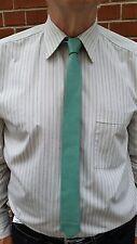 Handmade VIKTOR SABO TURUOISE Leather Tie 1.5 inch / 3.8 cm - Make Ur Style