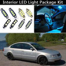 16PCS Ice Blue Canbus LED Interior Lights Package kit Fit 1998-2000 VW Passat J1
