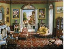 RAVENSBURGER JIGSAW PUZZLE ROOM WITH A VIEW JOHN O'BRIEN 2000 PCS #16689