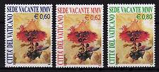 Vaticano 2005 Set n. 1514 - 1516 SEDE VACANTE POST ** fresco