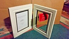 "NWT White Engravable 4"" x 6"" Picture Frame Hallmark 2005 Ornament Photo Holder"