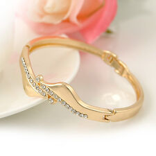 Fashion Womens Jewelry Fashion Gold Plated Waves Stylish Bracelet Bangle Gift