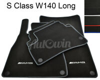 Floor Mats For Mercedes-Benz S Class W140 L With AMG Logo & NEW Color Variations