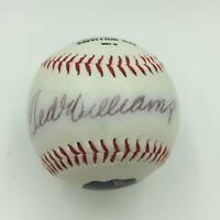 Ted Williams Signed Autographed Portrait Career Stats Baseball With JSA COA