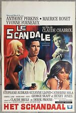 Affiche Belge LE SCANDALE Maurice Ronet CLAUDE CHABROL Anthony Perkins *