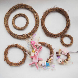 10-30cm Natural Dried Wreath Dried Rattan Ring Garland Home Wall Party Decor DIY
