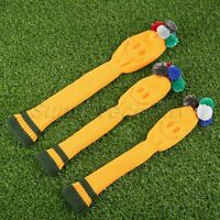 3X Golf Club Knitted Pom Pom Yellow Headcover Head Cover For Titleist Taylormade